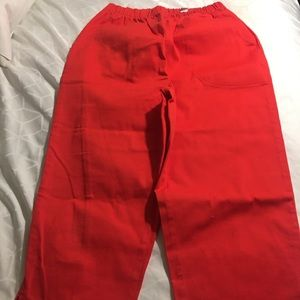 Denim company S orange capris elastic waist nwot